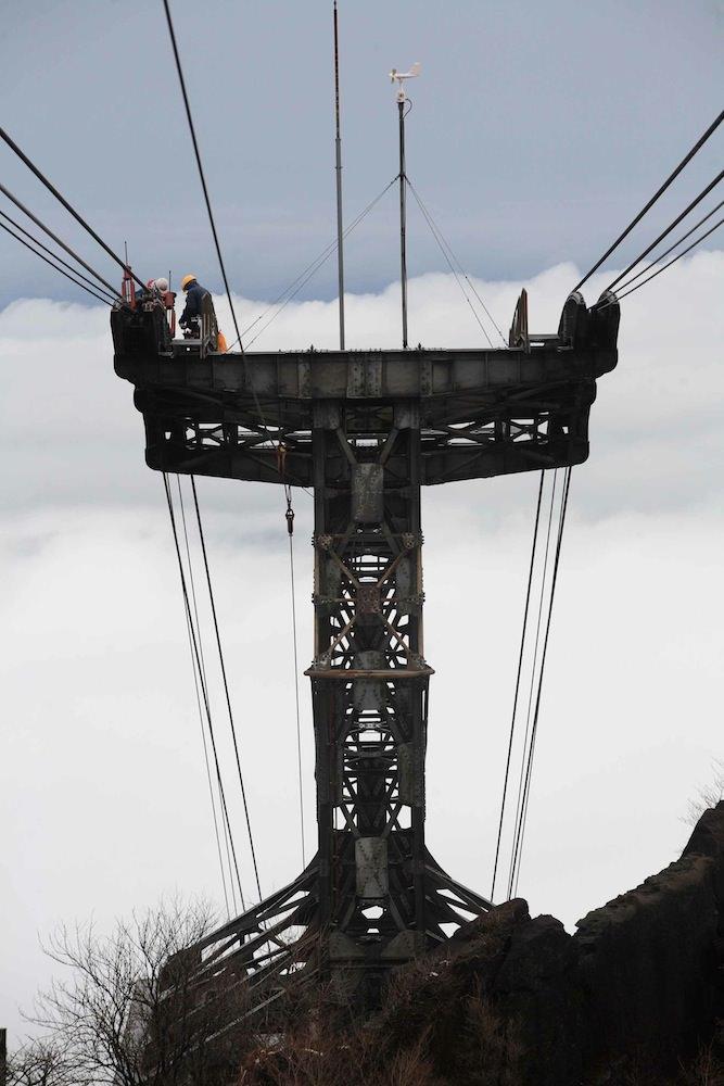 ロープウェイの仕組み | 筑波山ケーブルカー&ロープウェイ
